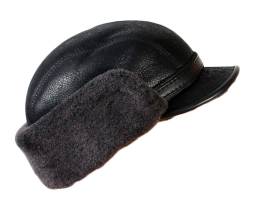 Shearling / Leather Winter Cap