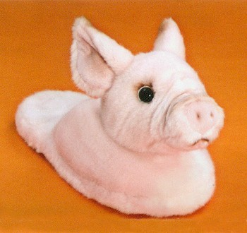 Stuffed Pink Pig Slippers