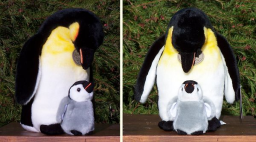 Stuffed Emperor Penguin and Baby