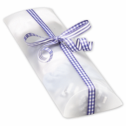 """Clear Frosted Pillow Boxes, 12 x 4 3/4 x 2"""""""